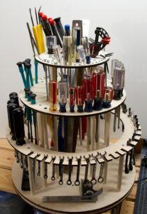 rotating tool rack 1